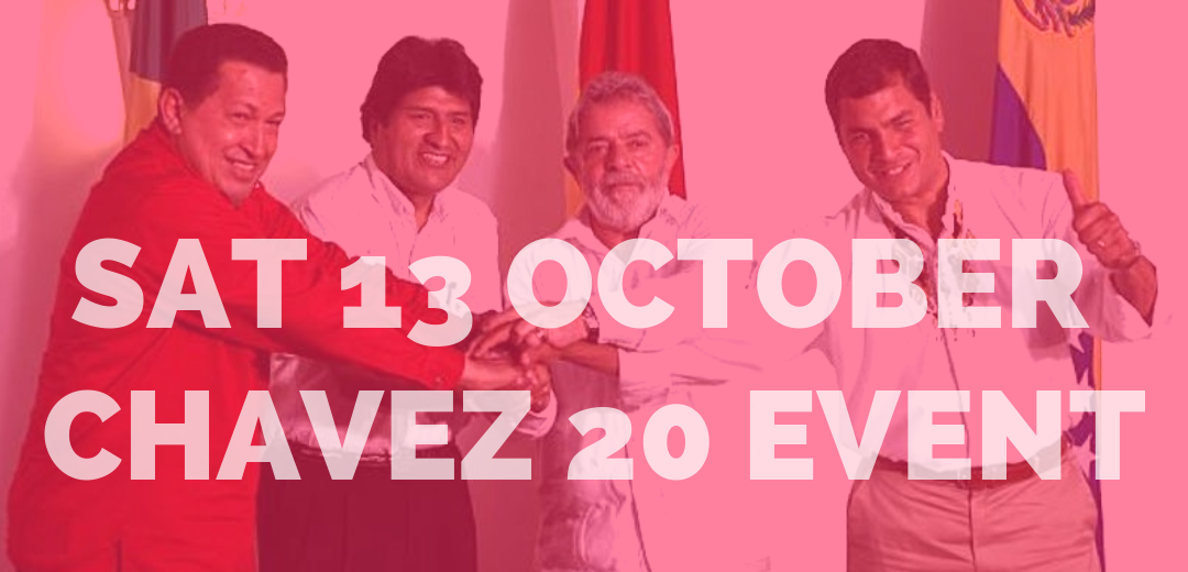 Event: 20 years since Chávez's election: a global spark for 21st century socialism